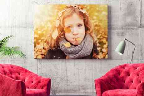 Printerpix - Personalised Photo Canvas in a Choice of Size - Save 80%