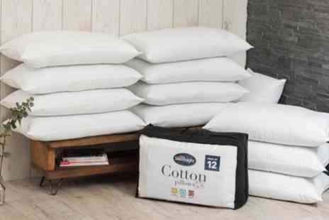 Groupon Goods Global GmbH - Twelve Silentnight Cotton Pillows - Save 74%