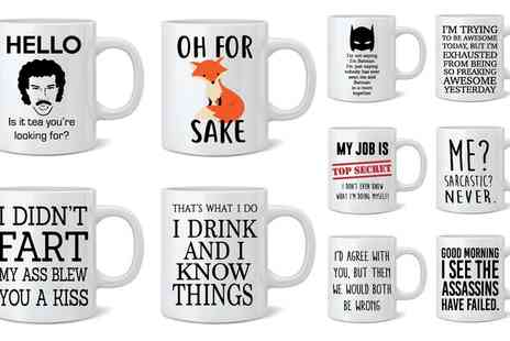Groupon Goods Global GmbH - One or Two Novelty Print Mugs - Save 62%