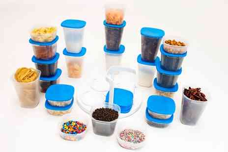 Groupon Goods Global GmbH - Store Matic Spin System with 24 Food Storage Containers - Save 51%