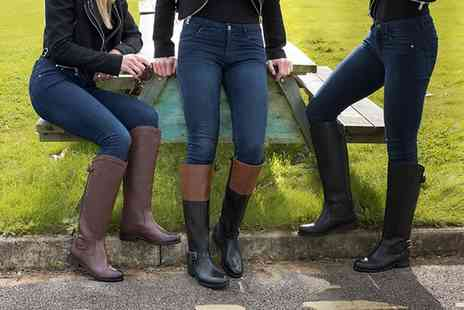 Groupon Goods Global GmbH - Redfoot Womens Riding Style Leather Boots - Save 75%
