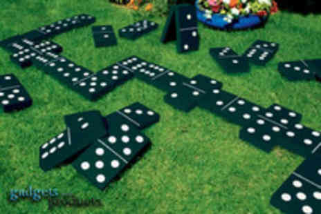 Gadgets & Products - Giant garden game get Dominoes, Badminton, Snakes & Ladders - Save 64%