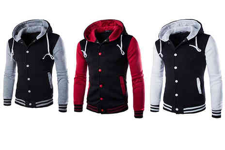 Bluebell Retail - Hooded baseball jacket choose from five colours - Save 0%