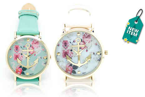 Solo Act - Floral anchor watch - Save 76%
