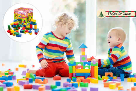 Zoozio - 50 or 75 assorted wooden building blocks - Save 56%