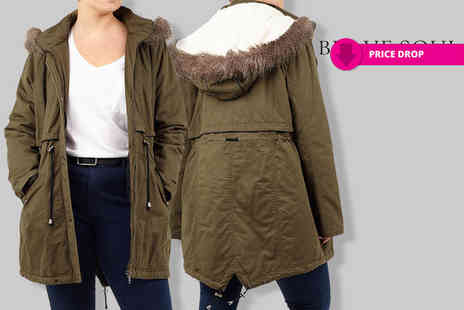 Nothing New 2 Wear - Plus size womens hooded parka coat - Save 76%