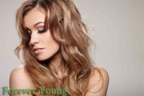 Forever Young - Half head of highlights, conditioning treatment, cut & blow dry - Save 58%