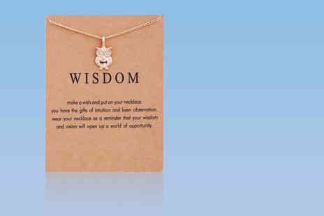 Solo Act - Wisdom owl necklace - Save 80%