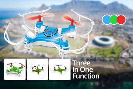 Toys Wizard - Remote controlled flying quadcopter nano drone choose from three colours - Save 62%