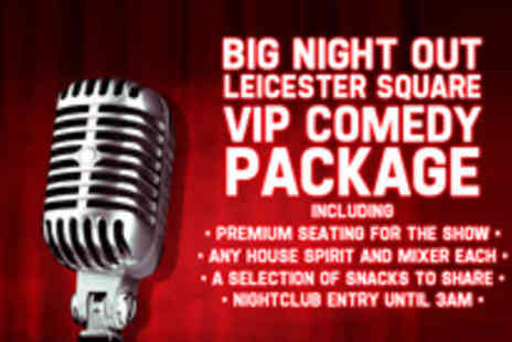 Big Night Out Comedy Club - Laugh your socks off with a VIP Big Night Out for two - Save 55%