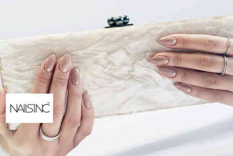 Nails Inc - Nails Inc express manicure, glass of bubbly and gift bag including a gift wrapped nail file, nail polish PLUS a £10 voucher - Save 52%
