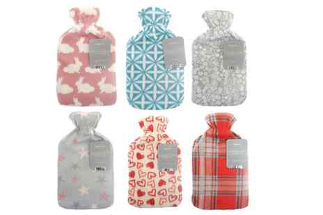 Groupon Goods Global GmbH - One or Two Hot Water Bottles in Choice of Design - Save 40%