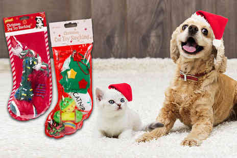 London Exchain Store - Cat or dog Christmas stocking - Save 80%