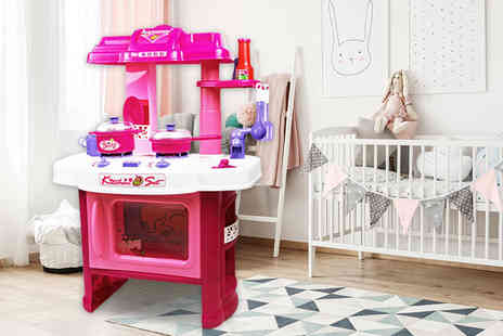 Who Needs Shops - Pink electronic kitchen playset - Save 75%