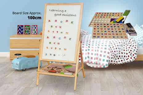 Funky Buys - Kids 2 in 1 blackboard and magnetic whiteboard easel - Save 56%