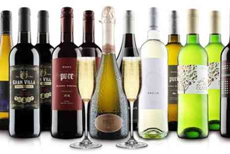 Virgin Wines Online - 12 bottles of wine in red, white or mixed case, excluding P&P - Save 62%
