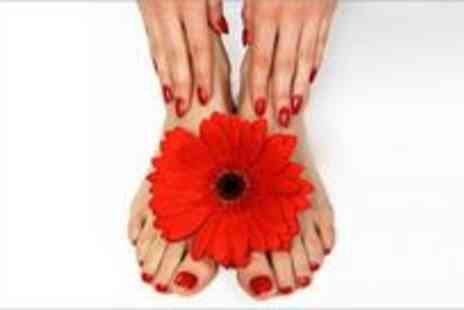 Cherish Hair & Beauty - Acrylic Sculptured Nails with white tips and Twinkle Toes - Save 70%