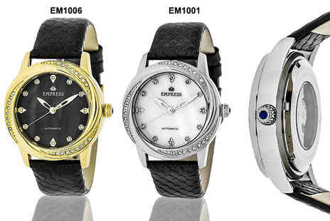 Idealdeal - Womens luxury automatic Empress Ayala watch choose from four designs Plus Delivery is Incuded - Save 86%