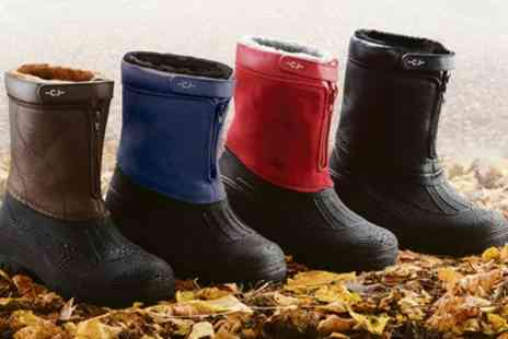 Groupon Goods Global GmbH - All Weather Unisex Fleece Lined Zip Boots - Save 55%