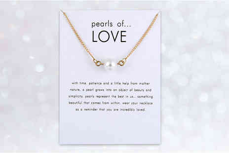 Solo Act - Pearls of love necklace on a message card - Save 80%