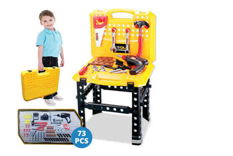 Funky Buys - 73 piece workbench and construction tools playset - Save 60%
