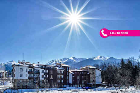Super Escapes Travel - Four or seven night self catered Bulgaria ski break with spa access and flights - Save 45%