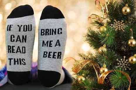 Treats on Trend - Pair of bring me a beer socks - Save 80%