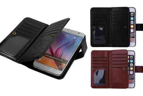 Groupon Goods Global GmbH - Dual Wallet Case for Samsung Galaxy S6 or Apple iPhone 5/6/7/6 Plus/7 Plus - Save 78%