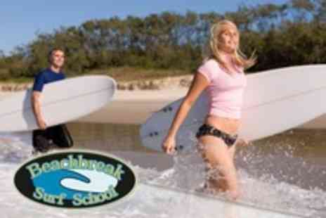 Beachbreak Surf School - Surfing Lesson For Four - Save 60%