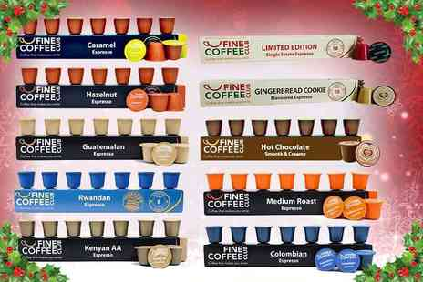 Fine Coffee Club - 100 Christmas coffee pods - Save 43%