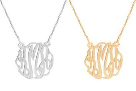 Jewells House - One, Two or Three Personalised Monogram Necklaces - Save 75%