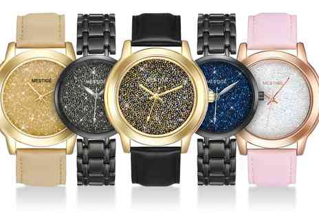 Groupon Goods Global GmbH - Twilight or After Glow Watch with Swarovski Crystals With Free Delivery - Save 78%
