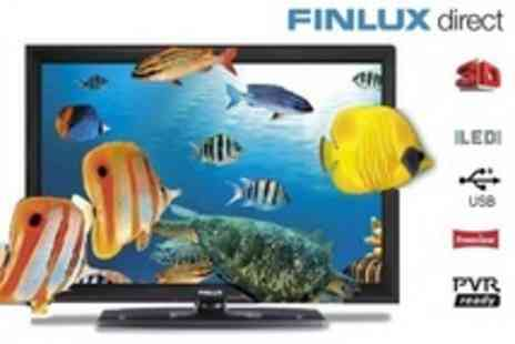 Finlux Direct - 32 inch LED 3DTV with four pairs of 3D glasses, plus two year warranty and wall mounting bracket - Save 11%