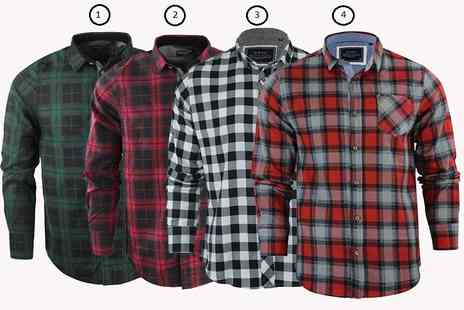 Marsel Holdings - Mens checked shirt choose from twelve colours - Save 67%