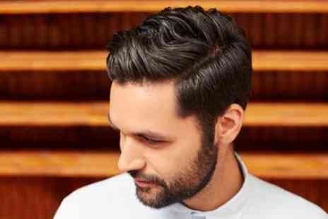 Fitzys Hair and Beauty - Mens Shampoo, Haircut and Optional Beard Shave with Ear Waxing or Eyebrow Threading - Save 0%