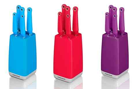 Groupon Goods Global GmbH - Morphy Richards Chroma Five Piece Knife Block - Save 85%
