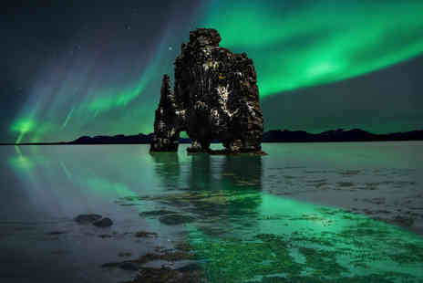 Great Pacific Travels - Two or three night Reykjavik break including flights, welcome drinks, transfers, and a Northern Lights tour - Save 33%