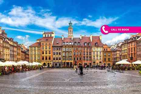 Vacation Xpert - Two or three night 5 Star luxury Warsaw stay with flights and mulled wine - Save 30%