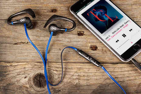Deals Direct - Pair of Veho ZS 3 water resistant sports earphones - Save 46%
