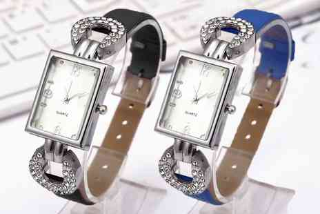 Groupon Goods Global GmbH - One or Two Women's Mariam Watches with Crystals from Swarovski - Save 80%