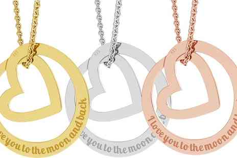 Jewells House - One, Two or Three Circle of Love Necklaces with Engrave - Save 72%