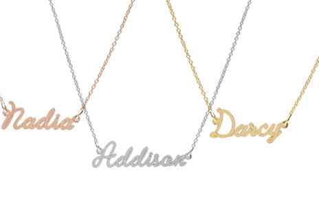 Jewells House - One, Two or Three Wire Style Name Necklace - Save 69%