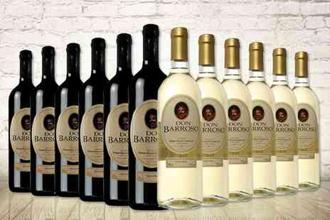 Easy Gifts - 12 bottles of Don Barroso red and white wine - Save 58%
