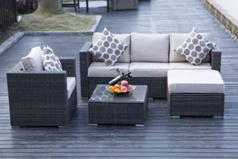 Groupon Goods Global GmbH - Monaco Rattan Effect Sofa Set With Free Delivery - Save 14%