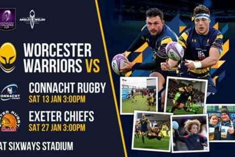 Worcester Warriors - Worcester Warriors Rugby Match, Child or Adult Ticket on 13 and 27 January  - Save 40%