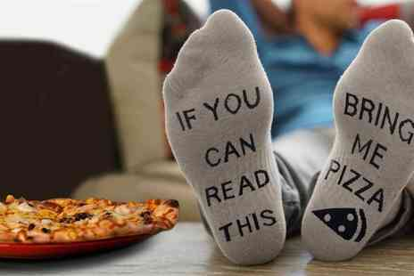 Groupon Goods Global GmbH - One, Two or Four Pairs of Bring Me Pizza Socks - Save 70%