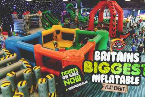 Wacky World - Entry to Inflatable Activity Arena on 9 on 22 December - Save 20%