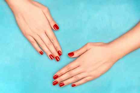 Station Hairbeauty - Shellac Manicure, Pedicure or Both with Optional Eyebrow Wax or Thread - Save 0%