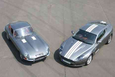Buyagift - 12 lap Jaguar E Type and Aston Martin supercar driving thrill experience - Save 0%