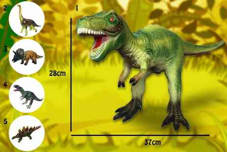 SHS Trading - Large foam rubber Jurassic dinosaur toy - Save 63%